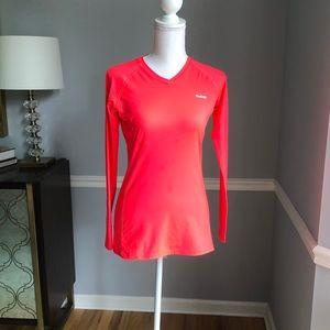 Reebok hot pink // coral Play Dry shirt